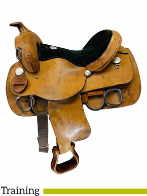 14 Inch Used Rocking R Training Saddle 1400 *Free Shipping*