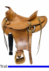 14 Inch Used TexTan Hereford Ranch Trail Saddle 951 *Free Shipping*