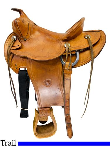 PRICE REDUCED! 14 Inch Used TexTan Hereford Ranch Trail Saddle 951 *Free Shipping*