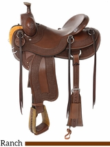 "14"" to 16.5"" Reinsman Association Ranch Saddle 4619 w/$210 Gift Card"
