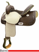 "14"" 15"" Billy Cook Spotted Feather Barrel Saddle 291265"
