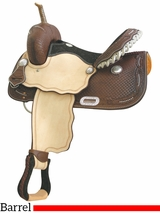 "14"" Billy Cook Spotted Feather III Barrel Saddle 291206"
