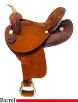 "** SALE **14"" to 16"" Dakota Barrel Saddle 305"