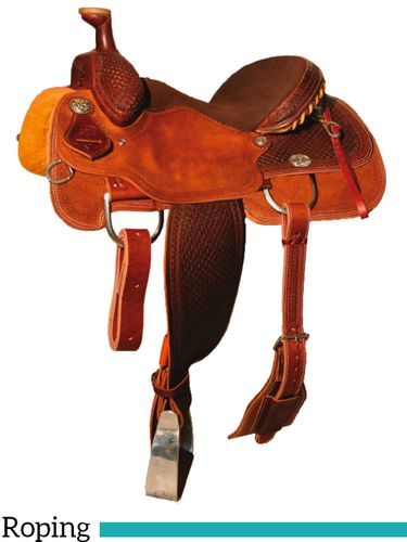 "DISCONTINUED 14"" to 16"" Reinsman Team Roper Saddle 4404"