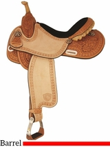 "14"" to 15"" Tex Tan Star Racer Barrel Saddle 292200"