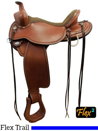 "** SALE **14"" to 17"" Circle Y Birdseye Flex2 Trail Saddle 1670"