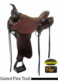 "14"" to 17"" Circle Y Missouri Flex2 Gaited Trail Saddle 1589 w/Free Pad"