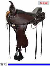 "14"" to 17"" Circle Y Tennessee Gaited Trail Saddle Flex2 1590"