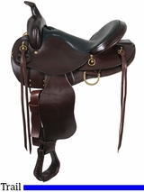 "14"" to 17"" South Bend Saddle Co ""Elkhart Eagle"" Trail Saddle 1002"