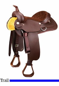 "14"" to 17"" Wintec Western All Rounder SemiQH Saddle"