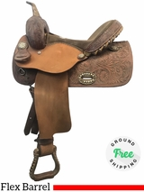 """SOLD 2018/06/23  PRICE REDUCED! 14"""" Used Alamo Wide Flex Barrel Racer 1234 usal3974 *Free Shipping*"""