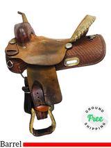"PRICE REDUCED! 14"" Used Billy Cook Barrel Saddle 2033 usbi4325 *Free Shipping*"