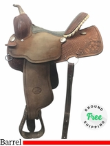 """PRICE REDUCED! 14"""" Used Billy Cook Wide Barrel Saddle 1415 usbi4056 *Free Shipping*"""