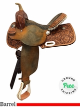 """SOLD 2018/09/30  PRICE REDUCED!  14"""" Used Billy Cook Wide Barrel Saddle 1902 usbi4121 *Free Shipping*"""