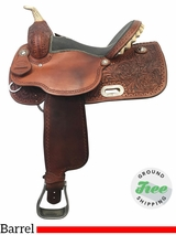 "PRICE REDUCED! 14"" Used HR Medium Barrel Saddle ushr3882 *Free Shipping*"