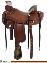"15"" to 17"" Circle Y Elko Ranch Saddle 1343"