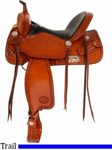 "** SALE **15"" to 17"" Billy Cook CJ Trail Saddle 1537"