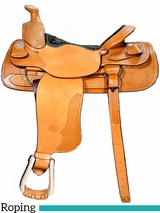 "** SALE **15"" to 18"" Billy Cook Team Roper Saddle 2082"