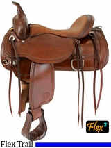 "** SALE **15"" to 18"" Circle Y Topeka Flex2 Trail Saddle 1651"