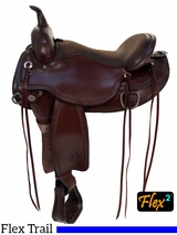 "** SALE **15"" to 18"" Circle Y Omaha Flex2 Trail Saddle 1554"