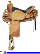 "15"" to 17"" Crates Lightweight Round Skirt Trail Saddle 2171"