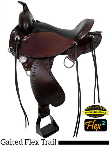 "14"" to 17"" Circle Y Alabama Flex2 Trail Gaiter Saddle 1581 w/Free Pad"