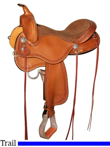 """15"""" to 17"""" Circle Y Gillette Trail Saddle 2615 w/Free Pad"""