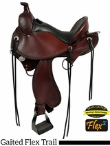 "15"" to 17"" Circle Y Kentucky Flex2 Trail Gaiter Saddle 1582"