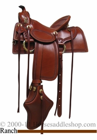 """15"""" 16"""" 17"""" Old West Ranch Trail Saddle Rocking R 2202"""