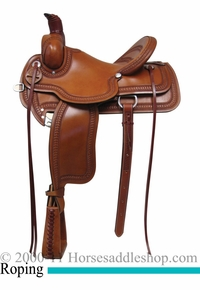 "15"" 16"" 17"" Rocking R Association Roping Saddle 1620"