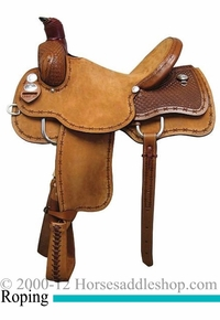 "15"" 16"" 17"" Rocking R Association Roping Saddle 1632"