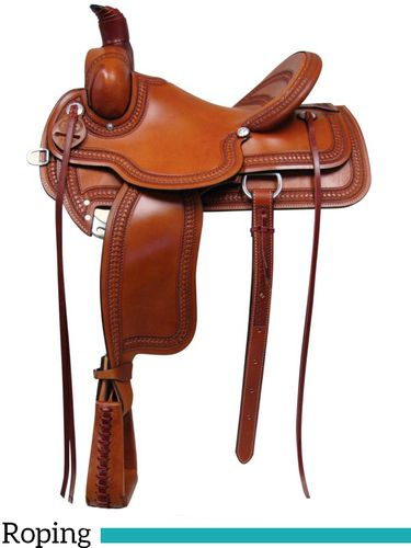 "15"" 16"" 17"" South Bend Saddle Co Association Roping Saddle 1620"