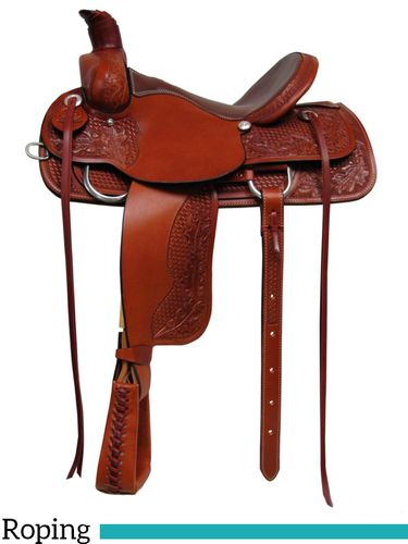 "15"" 16"" 17"" South Bend Saddle Co Association Roping Saddle 1640"