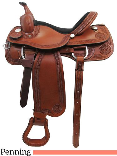 "15"" 16"" 17"" South Bend Saddle Co Team Penning Saddle 990"