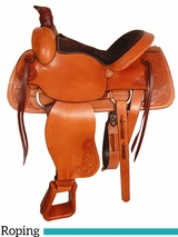 "15"" 16"" American Saddlery American All Around Roping Saddle 750"