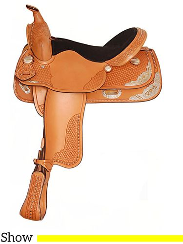 "15"" 16"" Big Horn Texas Best Spotted Show Saddle 1360"