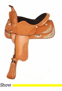 """15"""" 16"""" Big Horn Texas Best Spotted Show Saddle 1360"""