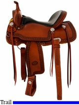 "** SALE **15"" to 17"" Billy Cook Trail Saddle 1538"