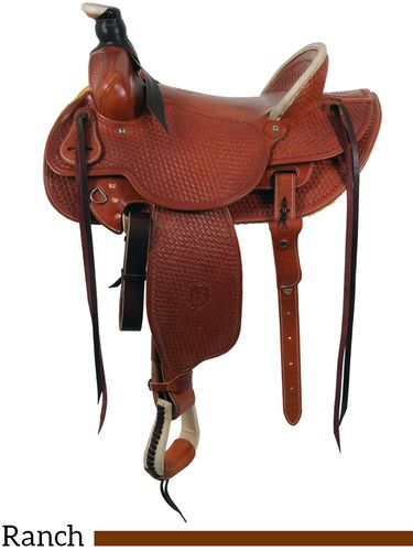 """15"""" to 16"""" Colorado Saddlery's Continental Divide Stockman High Cantle Saddle 0-6"""