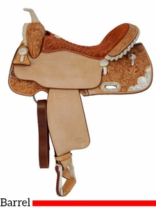 """14"""" to 16"""" Billy Cook Silver Show Barrel Saddle 2001"""