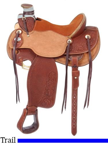 "15.5"" to 16.5"" Silver Royal Wade Padded Working Saddle 901"