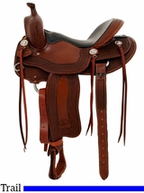 "** SALE **15.5"" to 17"" Billy Cook Tipton Trail Saddle 1737"
