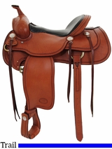 "15.5"" to 17"" Billy Cook Western Trail Saddle 1783"