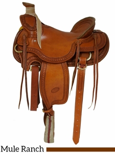"""15.5"""" 16"""" Billy Cook Wade Ranch Mule Saddle 2285"""
