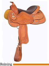 "** SALE **15.5"" 16"" Crates Hand-Tooled Ladies Reining Saddle 4517"