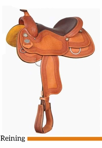 "15.5"" 16"" Crates Ladies Tooled Reiner Saddle 4521"