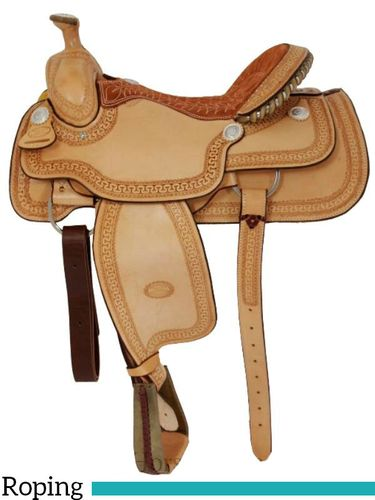 "15"" 16"" Billy Cook Arena Roping Saddle 2144"