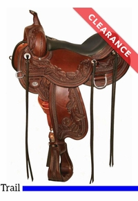 """15.5"""" Circle Y Julie Goodnight Wind River Flex2 Trail Saddle 1750, CLEARANCE"""