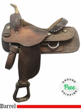 "PRICE REDUCED! 15.5"" Used Billy Cook Wide Barrel Racer Saddle 8555 usbi3955 *Free Shipping*"