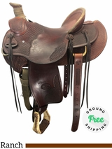 """15.5"""" Used Billy Cook Wide Ranch Saddle 2181 Wade usbi4128  *Free Shipping*"""
